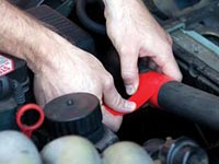 Radiator Hose Repair with Rescue Tape