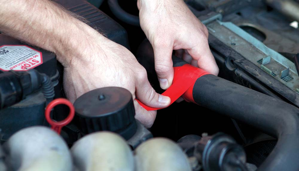 Emergency Radiator Hose Repair with Silicone Rescue Tape